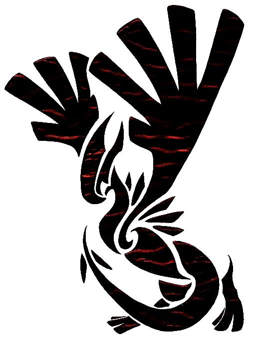 This would be A SICK tattoo.   Tribal Lugia by MysticSuicune