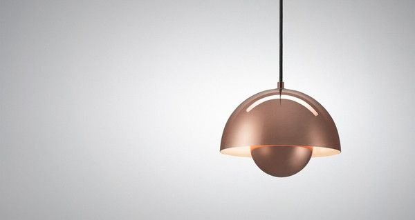 Classic FlowerPot Pendant Lamp in stylish Copper by Verner Panton @&tradition