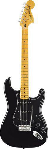 Fender Squier VM Stratocaster '70S MN Electric Guitar, Black 301227506