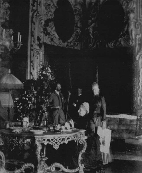 The Curtis Family in the Salone of the Palazzo Barbaro, ca. 1888