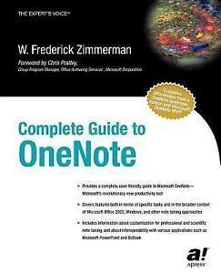OneNote Book Frederick Zimmerman Microsoft Complete Guide