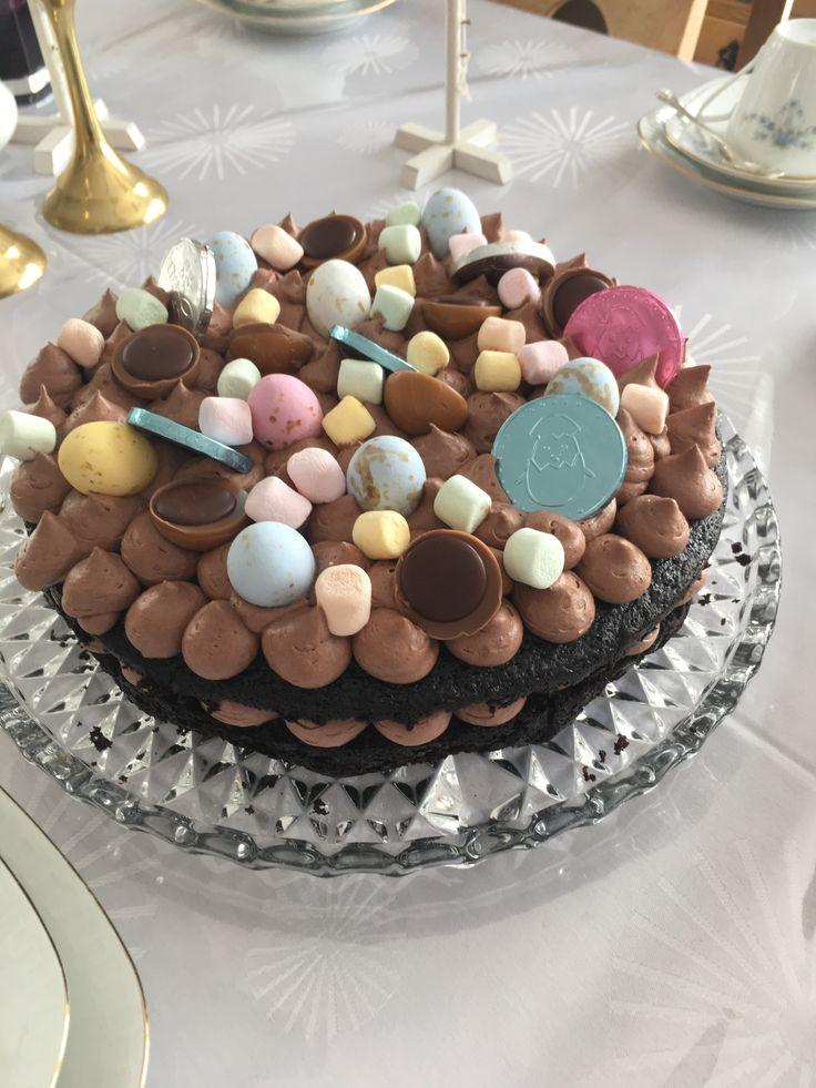 Sådan kan Chokolade kagen også pyntes🎀 Især til børn 🎂