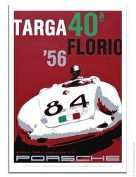 Porsche poster 1956 Targa Florio Porsche 550A