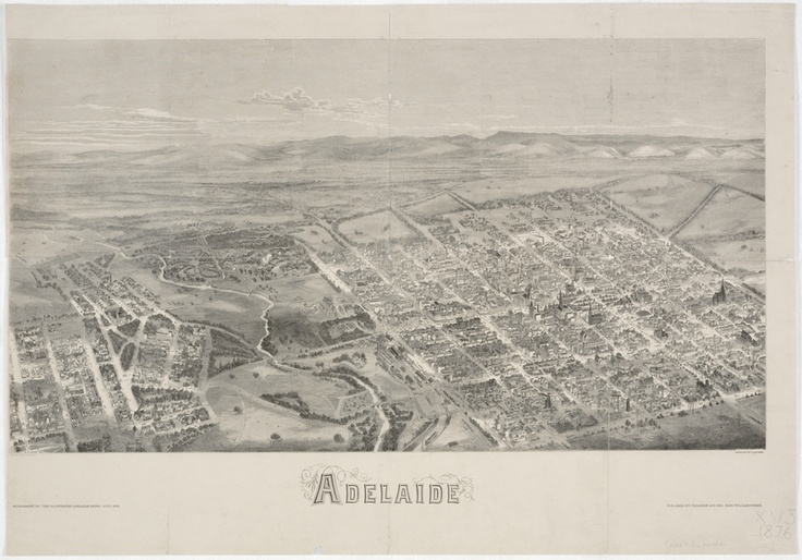 The 2nd Australian Cricket test starts today in Adelaide, here's a picture of Adelaide in 1876 from the State Library of New South Wales http://www.sl.nsw.gov.au/