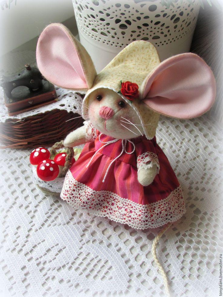 Купить Мышка - малышка Хозяюшка леса - мышка, мышь, мышонок, мышки, мышка игрушка
