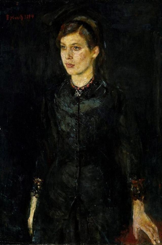 Munch - Inger Munch i svart 1884