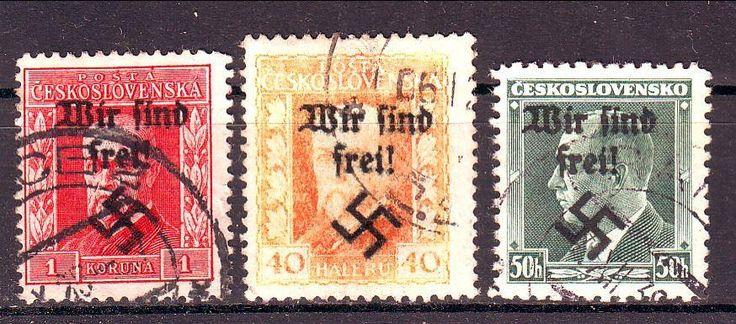 Sudetenland Reichenberg Köpfe Heads o stämplad