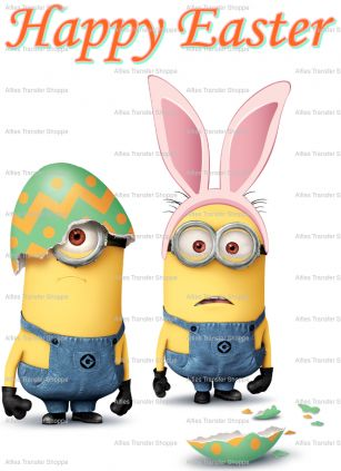 "Easter Minions - 2 Iron On Heat Transfers 5"" x 7"", Crafts :: Other Crafts :: Bullszi.com"