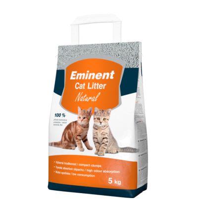 EminentCATLitterNATURAL- наполнительбез запаха,надежно обеспечиваетвысокие гигиенические стандарты и комфорт Вашей кошки.