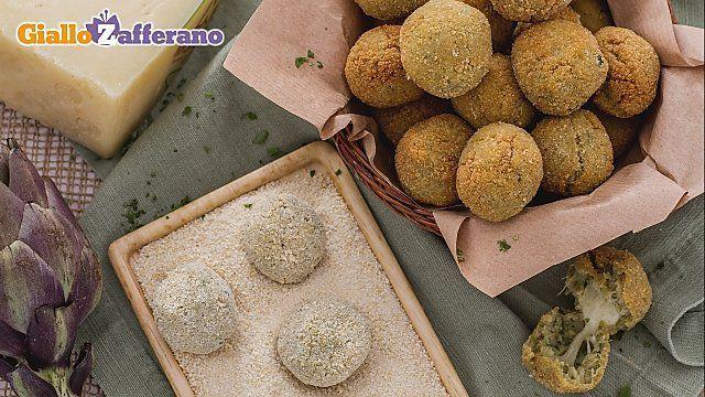 Ricetta Polpettine di carciofi con cuore filante - Le Ricette di GialloZafferano.it
