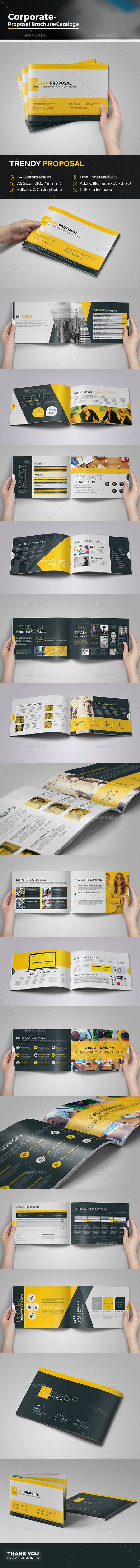 Business Proposal  #professional #proposal #proposal catalog • Available here → http://graphicriver.net/item/business-proposal/15592864?ref=pxcr