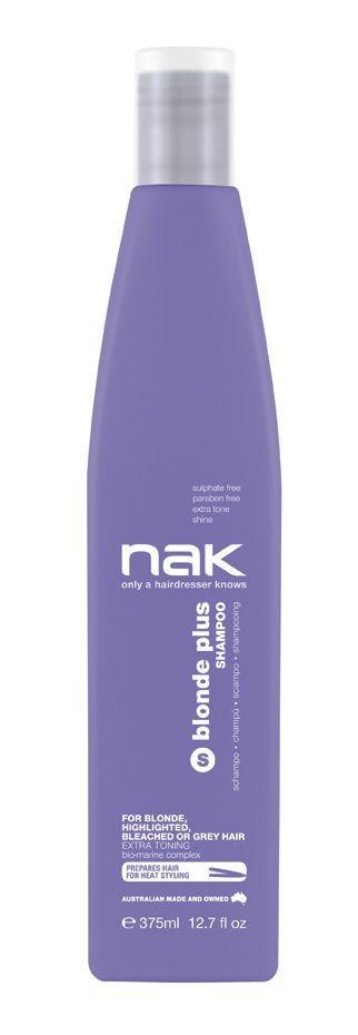 nak blonde plus shampoo / designed for blonde, highlighted, chemically lightened or grey hair #sulphatefree #parabenfree #tone #shine