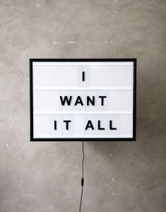 I Want It All | Nyheter | Artilleriet | Inredning Göteborg