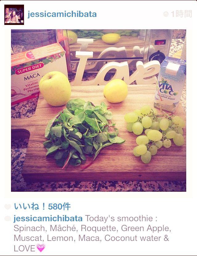 kitchen, smoothie with Love♡ photo by Jessica Michibata, instagram