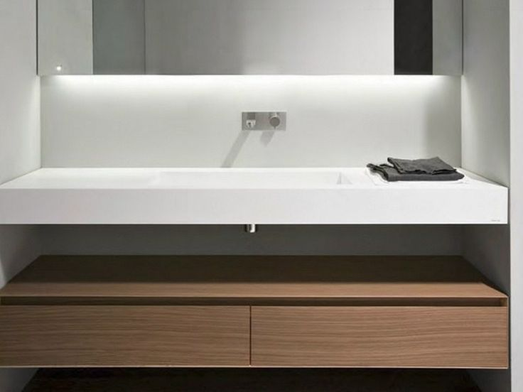 Plan de toilette en corian myslot by antonio lupi design - Salle de bain corian ...