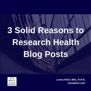 research health blog posts