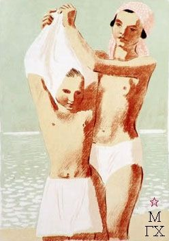 Пахомов Алексей Федорович. На пляже