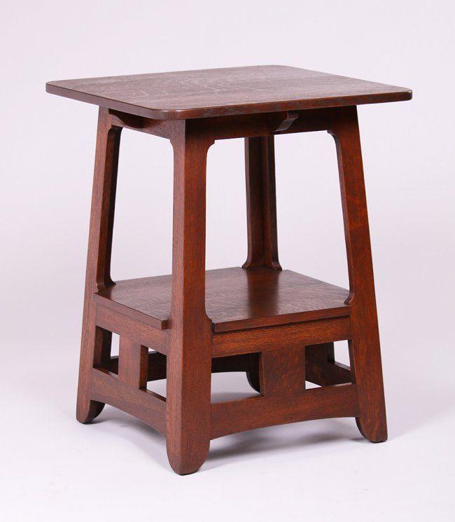 Brooks Cutout Pagoda Lamp Table  | Arts and Crafts | Craftsman | Bungalow