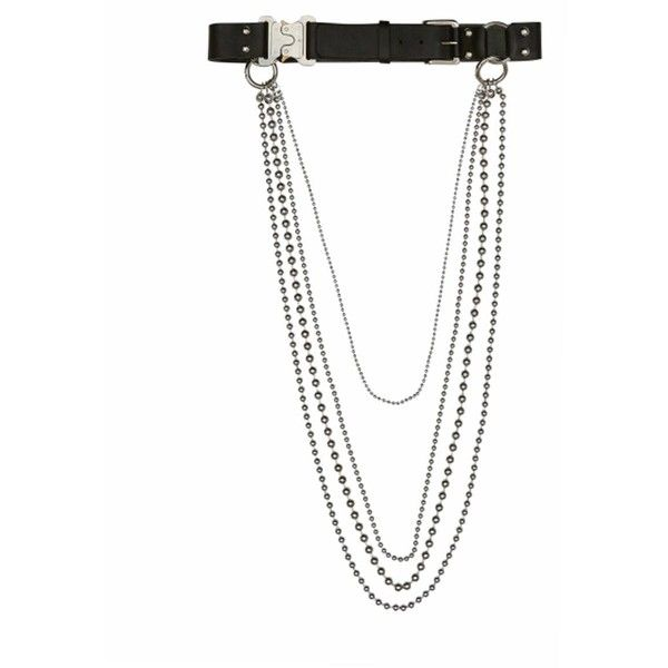 Alyx St. Marks Rollercoaster belt (41,750 PHP) ❤ liked on Polyvore featuring accessories, belts, black, leather belt, chain belts, buckle belt, alyx and leather buckle belt
