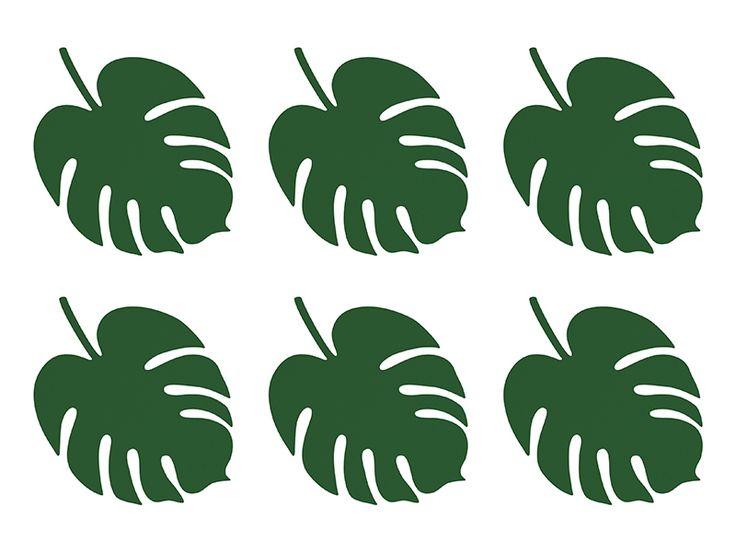 6 marque places feuille tropicale