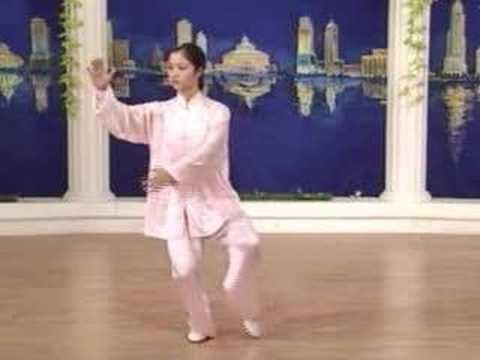 simplied tai chi 24 forms anterior view (very helpful for beginners for a daily practice)