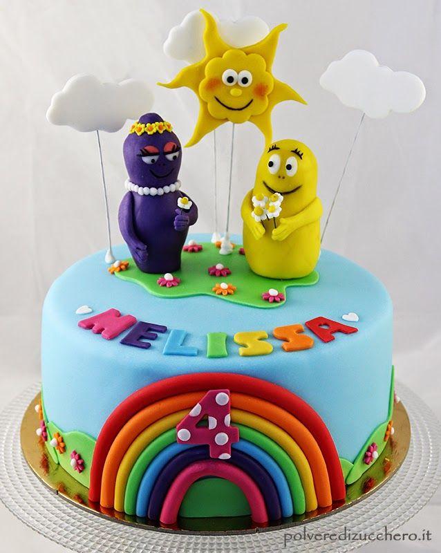Polvere di Zucchero: cake design e sugar art. Corsi decorazione torte,biscotti,cupcakes e fiori: Torta decorata Barbapapà: Barbabella e Barbazoo in pasta di zucchero