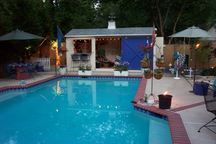 Living stingy swimming pool on a budget garden yard - Backyard pool ideas on a budget ...