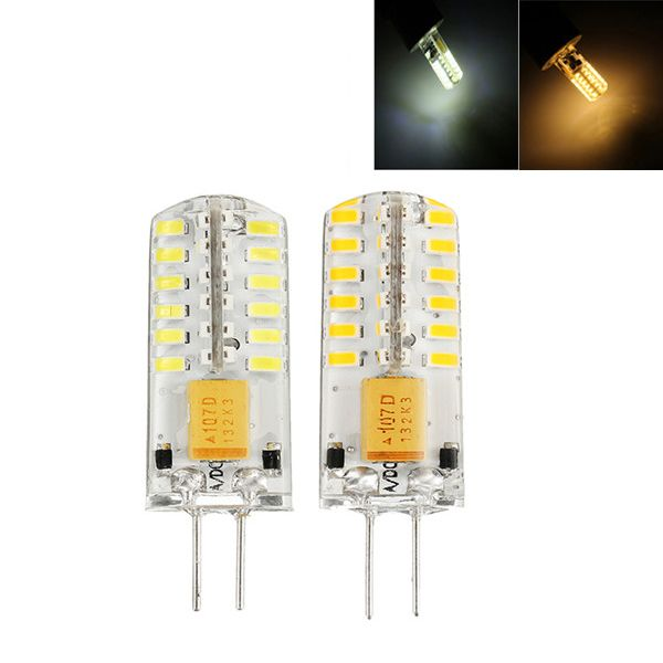 G4 2w Smd3014 48leds 260lm Warm White Pure White Light Bulb Ac Dc12 24v Features High Performance 3000 3500k Color Tempera White Light Bulbs Light Bulb Bulb
