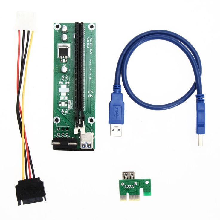 NI5L USB 3.0 PCI-E PCI Express Riser Card 1x to16x Extender Riser Card Adapter SATA Power Cable supply for Miner Machine