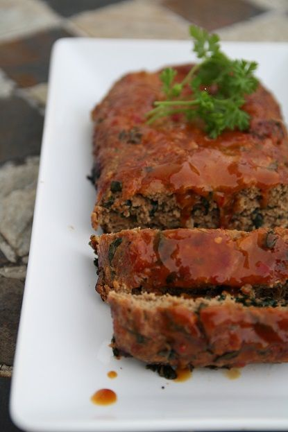 Comforting summer style BBQ'd kale and Swiss meatloaf!