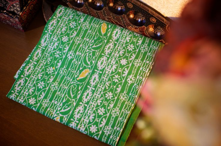 Batik Garutan warna hijau