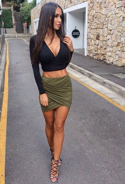 Lady High Waist Short Skirt | You can find this at => http://feedproxy.google.com/~r/amazingoutfits/~3/fzzn2ij7DL8/photo.php