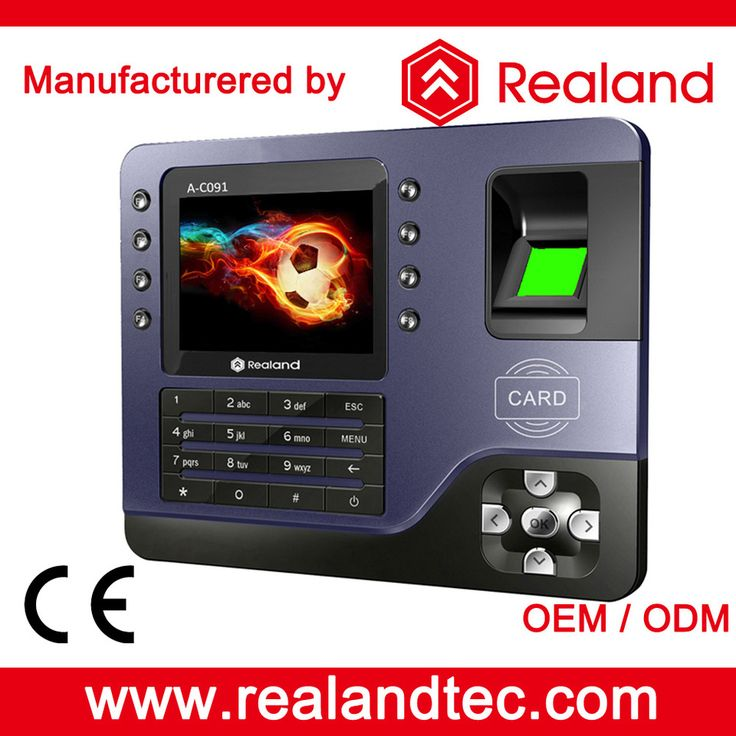 Realand A-C091 Blue Biometric Device Fingerprint Time Attendance Device with 3000 Fingerprint Capacity