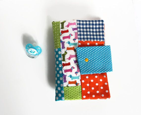 PATCHWORK travel nappy bag Baby Changing Purse by Sunchildsews