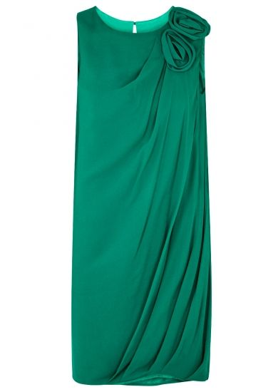 Chapter 24 Lanvin Turquoise corsage georgette dress - Harvey Nichols