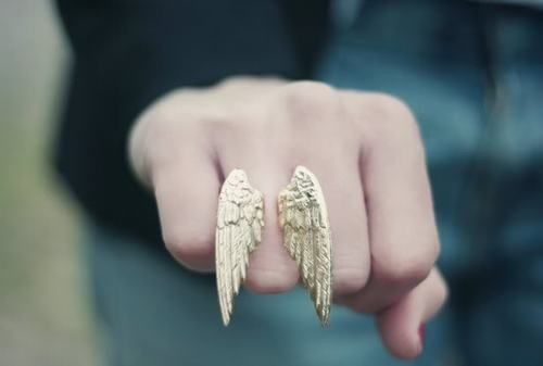 Wings!!!: Cool Rings, Statement Rings, Angel Wings, Fingers, Wings Rings, Rings Design, Girls Fashion, Cheap Date Ideas, Silver Rings