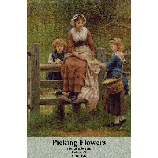 Gobelin Model Picking Flowers http://gobelins-tapestry.com/portraits/943-picking-flowers.html