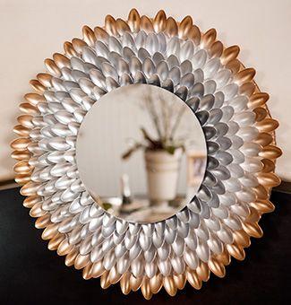 •❈• Modern Spoon Mirror