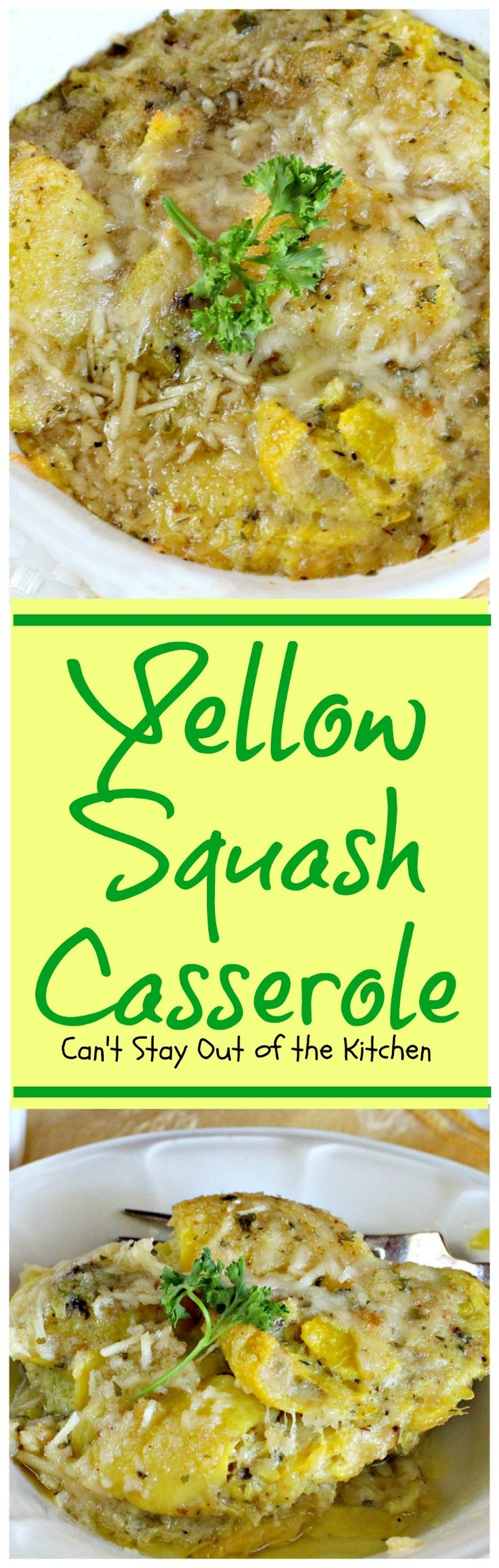 Yellow Squash Casserole | Can't Stay Out of the Kitchen | this scrumptious #casserole is perfect for #Easter dinner or other #holiday meals. #yellowsquash