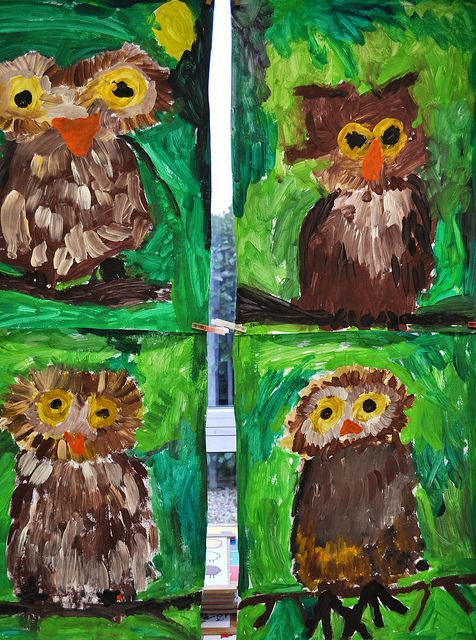 painted owls | Flickr - Photo Sharing!