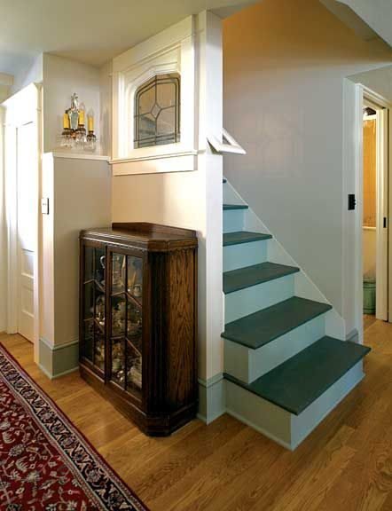 Painted Basement Stairs Home Pinterest