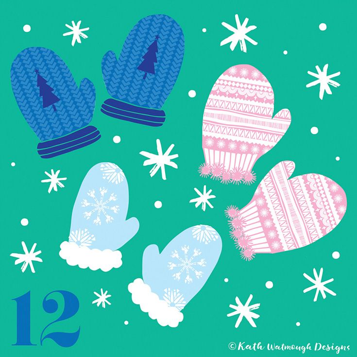 Day 12. You'll need these if you're going out today... It's freezing!#makeitindesign #wintermittens #festivemittens #mittens #advent #adventcalendar #adventcalendarart #adventchallenge2017 #adventcalendar2017 #illustration #christmascountdown #christmascalendar #christmas #freelance #freelancedesigner #christmas2017 #kathwatmoughdesigns www.instagram.com/kathwatmough