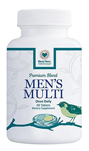Best Nest Mens Multi Vitamins  Methylfolate Methylcobalamin B12 Whole Food Multivitamins Probiotics 100 Natural Organic Blend Once Daily Multivitamin 60 Tablets -- See this great product.