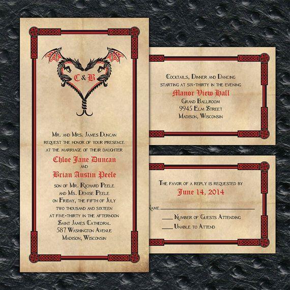 28 Best Medieval Wedding Invitations Images On Pinterest: Wedding Invitations Dragons - Google Search