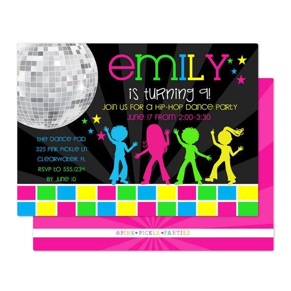 Disco Invitations Disco Invitation Disco by ...
