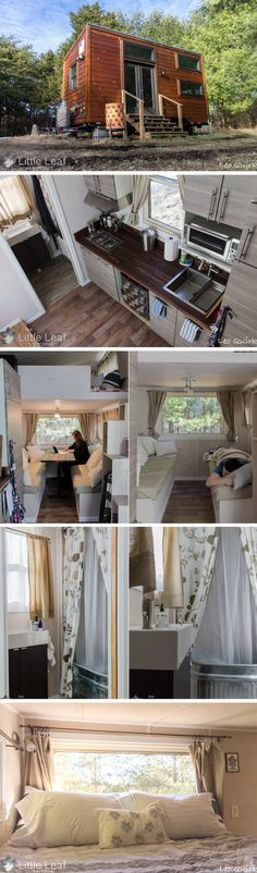 The Little Leaf Project tiny house. A 220 sq ft home, currently available for sale!