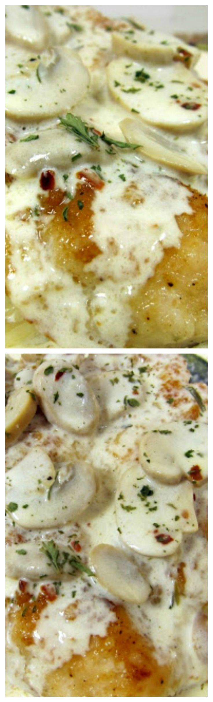 Carrabba's Champagne Chicken ~ Pan sautéed chicken in a champagne cream sauce - so delicious... Ready in minutes!