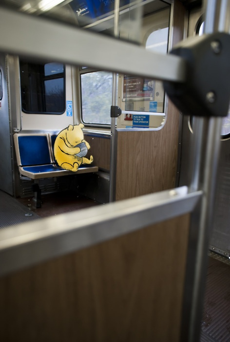 24 best cta love images on pinterest chicago buses and busses pooh bear on the metro sciox Image collections