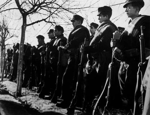 Henry's brigade with the International Brigades