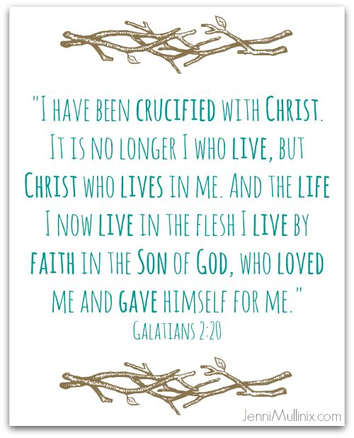 Crucified with Christ (Scripture Memory Challenge + Free Printable)